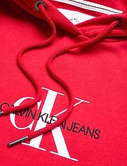 Calvin Klein Jeans - MONOGRAM HOODIE DRESS - hverdagskjoler - racing red - 2