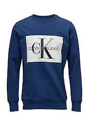 MONOGRAM BOX LOGO SWEATSHIRT - BLUE DEPTHS