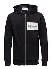 INSTITUTIONAL LOGO ZIP THROUGH HOODIE - CK BLACK