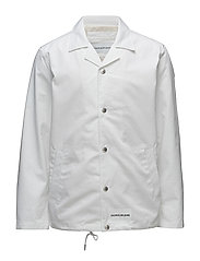 INSTITUTIONAL LOGO COACH JACKET - BRIGHT WHITE