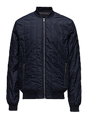 DOUBLE SIDE POCKET QUILTED BOMBER - NIGHT SKY
