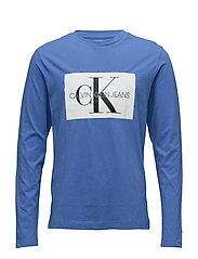 MONOGRAM BOX LOGO COTTON LONG SLEEVE TEE - REGATTA