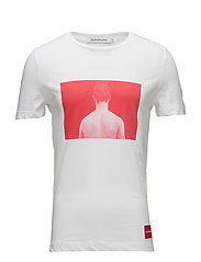 DIGITAL PHOTO  SLIM COTTON TEE - BRIGHT WHITE