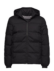 HOODED DOWN JACKET, - CK BLACK