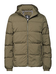 HOODED DOWN JACKET, - GRAPE LEAF