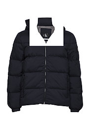 HOODED DOWN JACKET, - NIGHT SKY