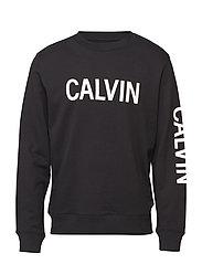 CALVIN LOGO REG CREW - CK BLACK