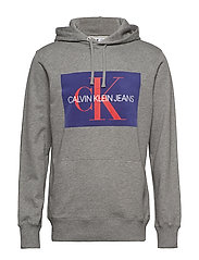 MONOGRAM FLOCK BOX H - GREY HEATHER / SPECTRUM BLUE