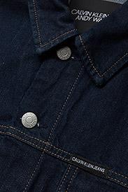 Calvin Klein Jeans - Classic Trucker Warh - farkkutakit - rinse white print - 2