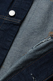 Calvin Klein Jeans - Classic Trucker Warh - farkkutakit - rinse white print - 4