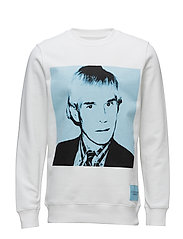 WARHOL PORTRAIT REGULAR CN - BRIGHT WHITE / BLUE