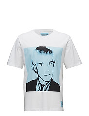 WARHOL PORTRAIT REGULAR FIT SS - BRIGHT WHITE / BLUE