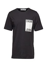 CALVIN JEANS BOX CHEST REG SS - CK BLACK/WHITE