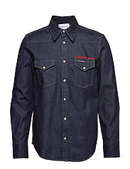 FOUNDATION WESTERN SHIRT - RINSE WITH RED EMBROIDERY
