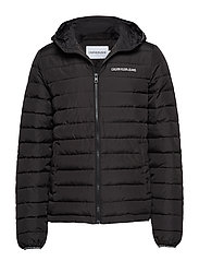 PADDED HOODED JACKET - CK BLACK
