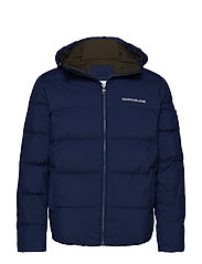 HOODED DOWN PUFFER J - MEDIEVAL BLUE