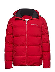 HOODED DOWN PUFFER J - RACING RED