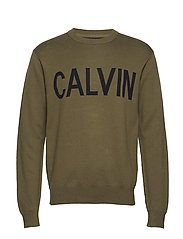 CALVIN CN SWEATER - GRAPE LEAF / BLACK