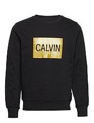 CALVIN BOX REGULAR CREW NECK - CK BLACK / GOLD