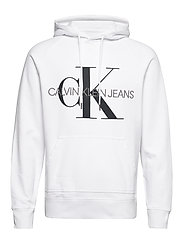 WASHED REG MONOGRAM HOODIE - BRIGHT WHITE