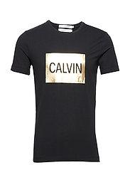 CALVIN SLIM SS TEE - CK BLACK / GOLD