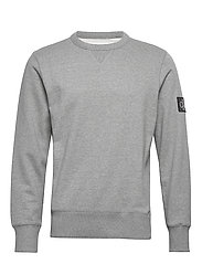 MONOGRAM SLEEVE BADGE CN - MID GREY HEATHER / BLACK