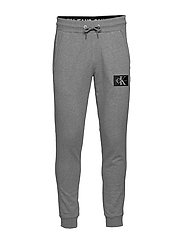 MONOGRAM PATCH HWK PANT - MID GREY HEATHER / POSEIDON