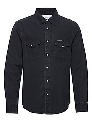 MODERN WESTERN SHIRT - CA082 BLUE BLACK