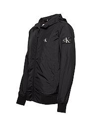 calvin klein jeans hooded blocking nylon jacket jackor blackwhite