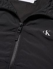 Calvin Klein Jeans - HOODED BLOCKING NYLON JACKET - light jackets - ck black/white - 4