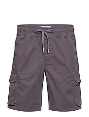 SIMPLE WASHED CARGO SHORT - ABSTRACT GREY