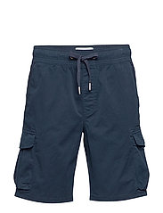 SIMPLE WASHED CARGO SHORT - NIGHT SKY