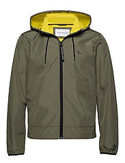 JERSEY LINED HOODED - NEW BASIL/SOLAR YELLOW