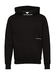 SUBTLE INSTITUTIONAL LOGO HOODIE - CK BLACK