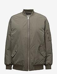 Calvin Klein Jeans - OLVA LW PADDED LOGO BOMBER - bomber jakker - dusty olive - 0
