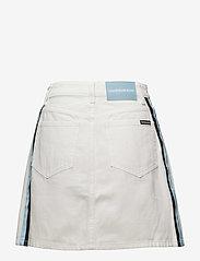 Calvin Klein Jeans - High Rise Mini Skirt Stripe - lyhyet - white - 2