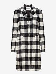 Calvin Klein Jeans - CHECK WOOL CROMBIE - manteaux legères - black/white - 0