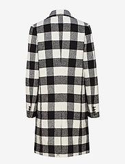 Calvin Klein Jeans - CHECK WOOL CROMBIE - manteaux legères - black/white - 1
