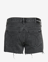Calvin Klein Jeans - MID RISE WEEKEND SHORT - denim shorts - windy black raw embroidery red - 1