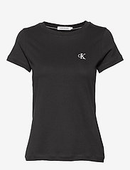 Calvin Klein Jeans - CK EMBROIDERY SLIM TEE - t-shirts - ck black - 0