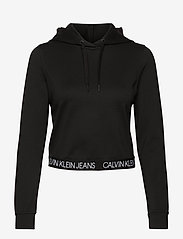 Calvin Klein Jeans - LOGO ELASTIC MILANO HOODIE - hettegensere - ck black - 0