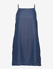Calvin Klein Jeans - INDIGO TENCEL SLIP DRESS - korte kjoler - mid indigo - 0