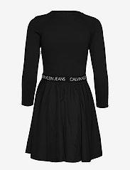Calvin Klein Jeans - MID SLEEVE MILANO LOGO ELASTIC - hverdagskjoler - ck black - 1