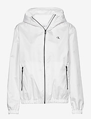 Calvin Klein Jeans - LARGE CK LOGO HOODED - kevyet takit - bright white - 0