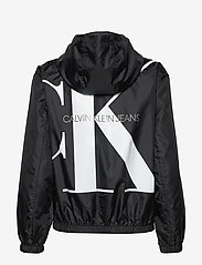 Calvin Klein Jeans - LARGE CK LOGO HOODED - kevyet takit - ck black - 2
