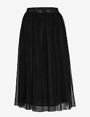 Calvin Klein Jeans - DOUBLE LAYER MESH SKIRT - do kolan & midi - ck black - 0