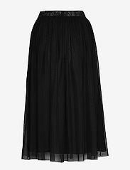 Calvin Klein Jeans - DOUBLE LAYER MESH SKIRT - do kolan & midi - ck black - 1