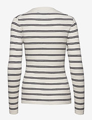 Calvin Klein Jeans - STRIPE RIB SWEATER - gensere - creamy white - 1