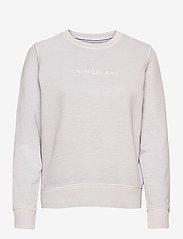 Calvin Klein Jeans - SHRUNKEN INSTITUTIONAL GMD CN - sweatshirts - orchid hush - 0