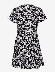 Calvin Klein Jeans - FLORAL  SS DRESS - korte kjoler - black with white peony floral - 1